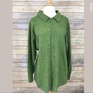 FLAX Jeanne Engelhart Shirt Lagenlook Linen Size L